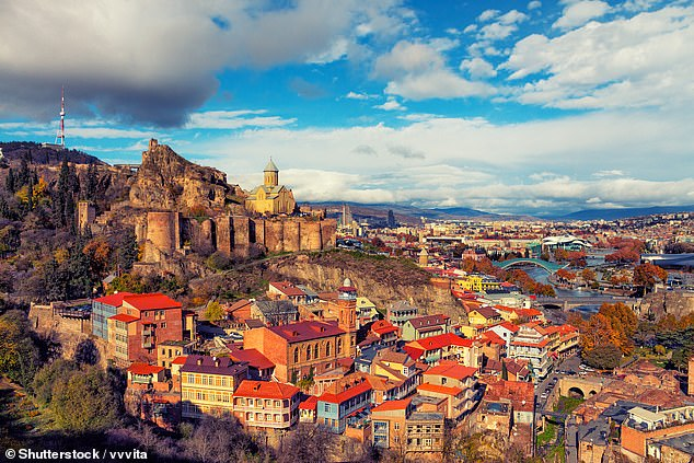 A slump in the Russian rouble and the Turkish lira has hit Georgia's exports, with a knock-on effect on its exchange rate. Pictured is the Georgian capital, Tbilisi
