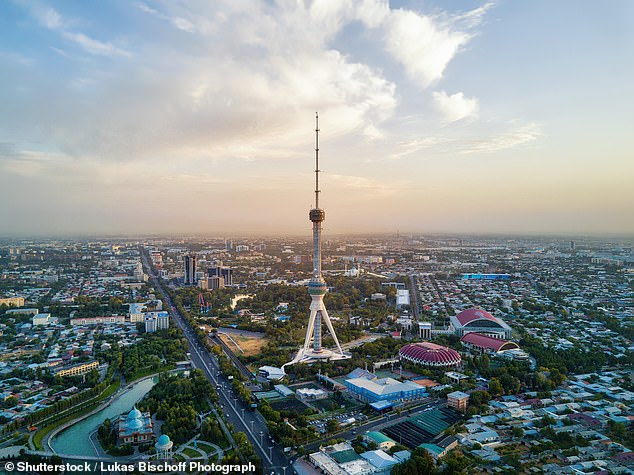 The Uzbek unit of currency, the Som, lost almost 50 per cent of its value the day exchange controls were relaxed in 2017. Pictured is the country's capital, Tashkent