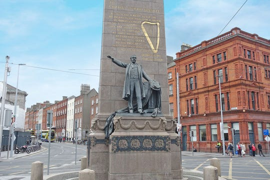 This Dublin statue honors Charles Stewart Parnell, beloved for his tireless work for land reform and Irish home rule